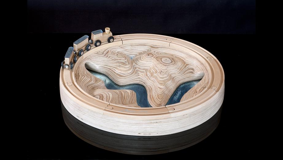 Krajinka, dřevo, sklo, 2012