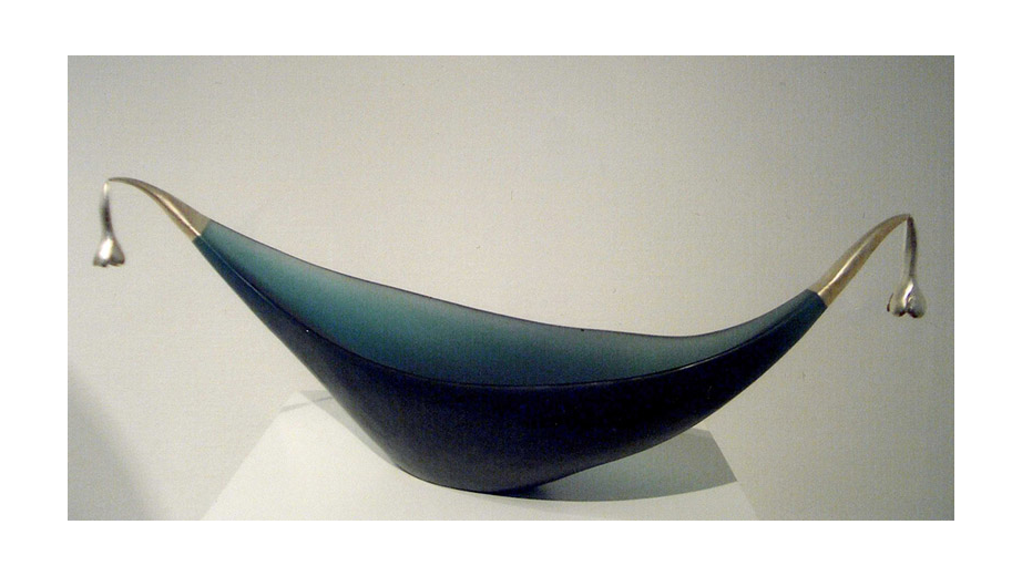 Ship Bloom, melted glass, bronze ,white gold, 1998