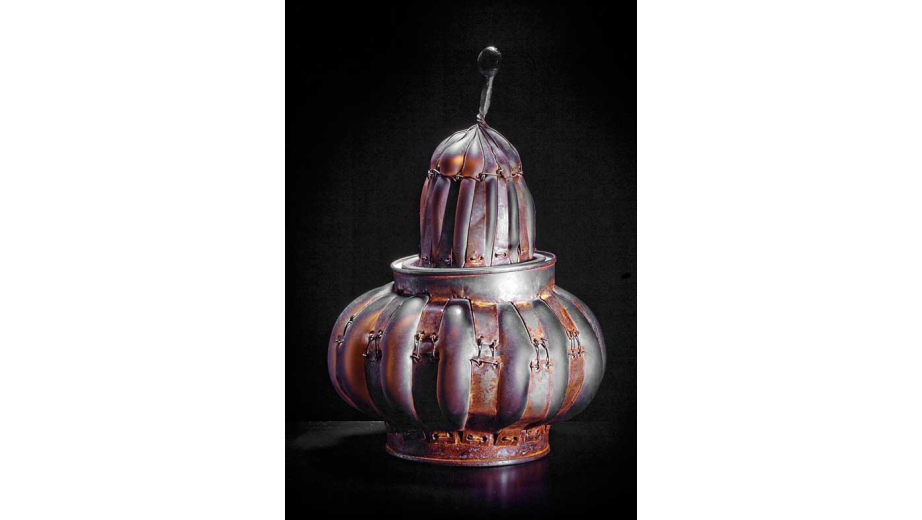 Tea still life, blown glass, metal, 1993