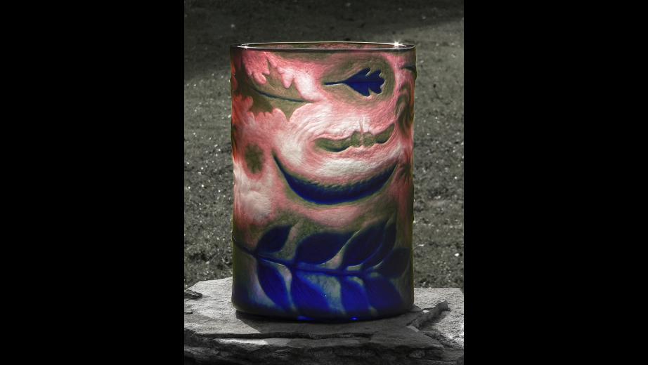 Podzimní nálada, ryté přejímané sklo, 2007?